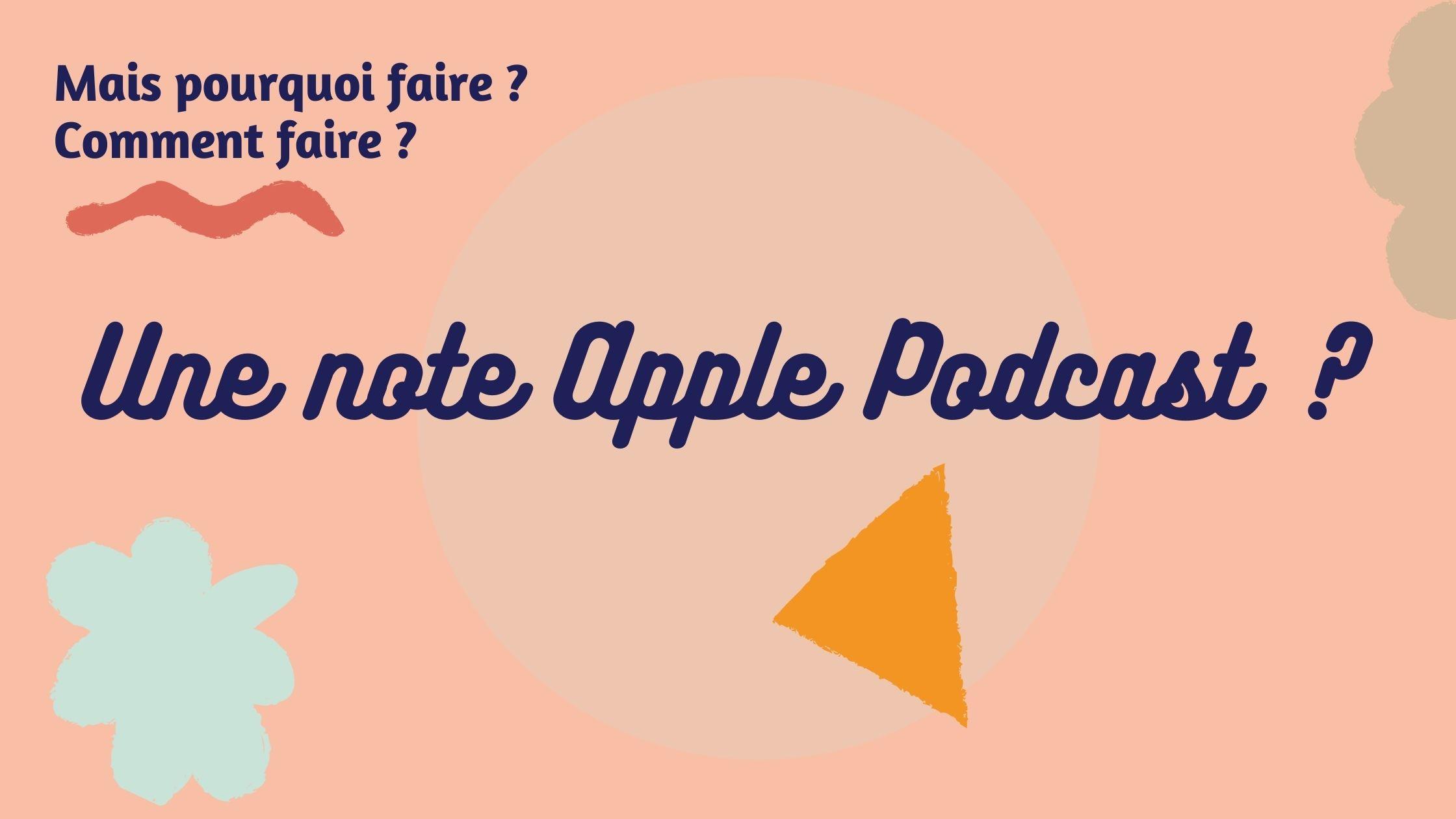 noter et laisser un commentaire de podcast sur apple podcast