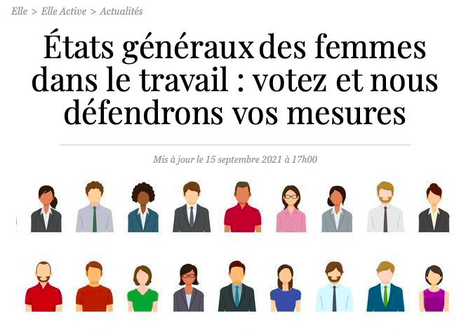 état généraux des femmes dans le travail