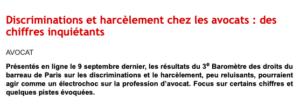 harcelement discrimination avocat